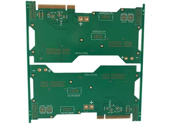 Gold finger PCB prototype