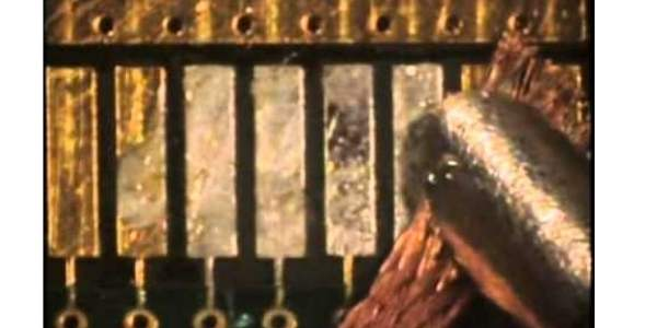 The repairing process of PCB gold finger