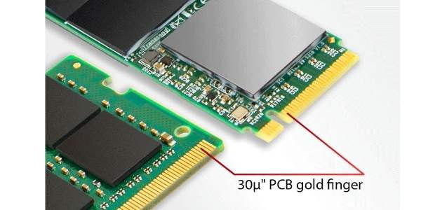 The depiction of PCB gold finger thickness