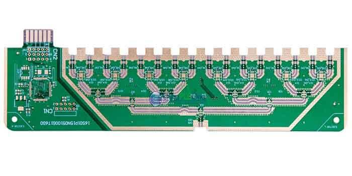 Teflon PCB with solder mask