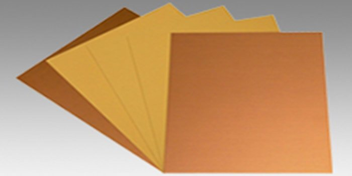 The halogen free base material of the Rogers 3010 laminate material