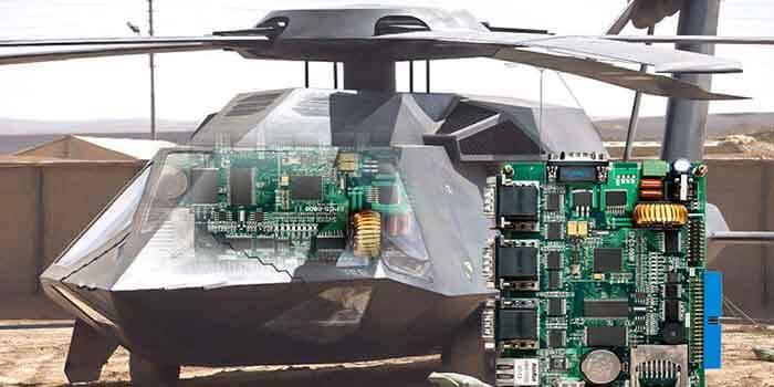 Military electronics PCB case.