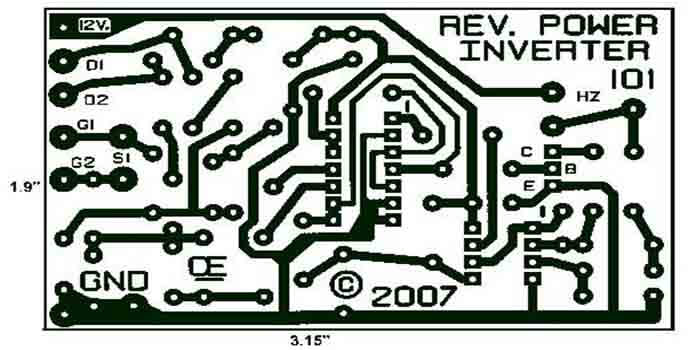 The picture showing the designing of an Inverter power board