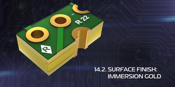 Immersion Gold On 14 Layer PCB Stackup