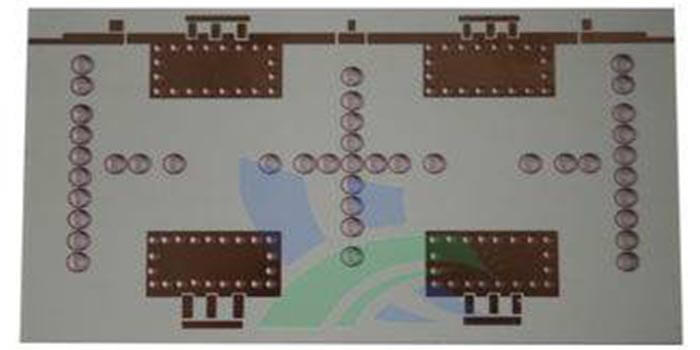 An amplifier PCB having Rogers 3010 as laminate material