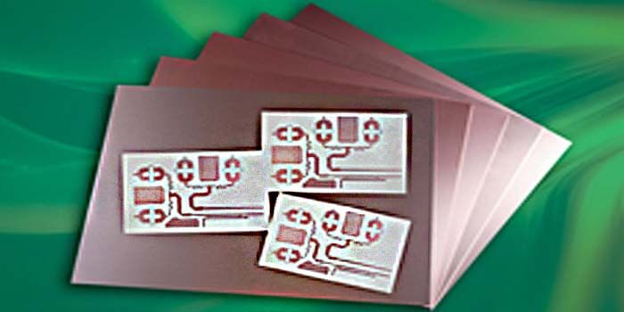 The material for an amplifier PCB
