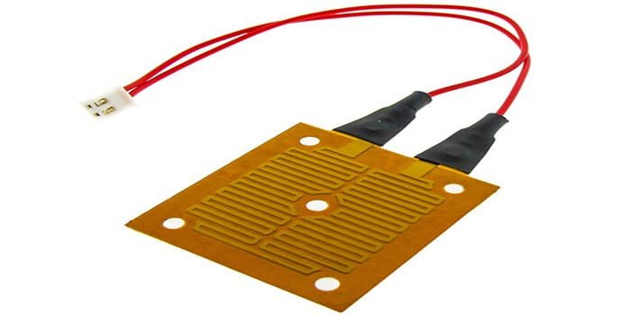 polyimide flexible heater with custom wires