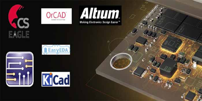 The names of different software for the Embedded PCB designing