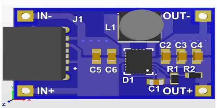 Buck-Boost DC-DC Converter PCB