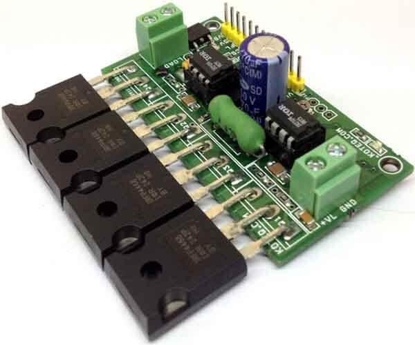 H-bridge Motor Driver PCB Components