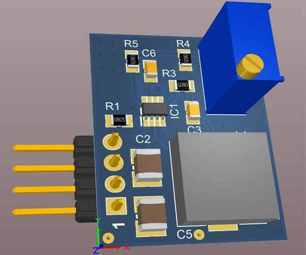 Reliable DC-DC Converter PCB