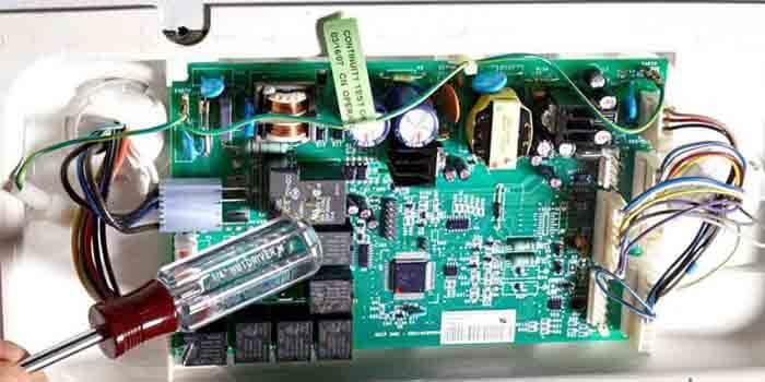 Repairing a refrigerator PCB