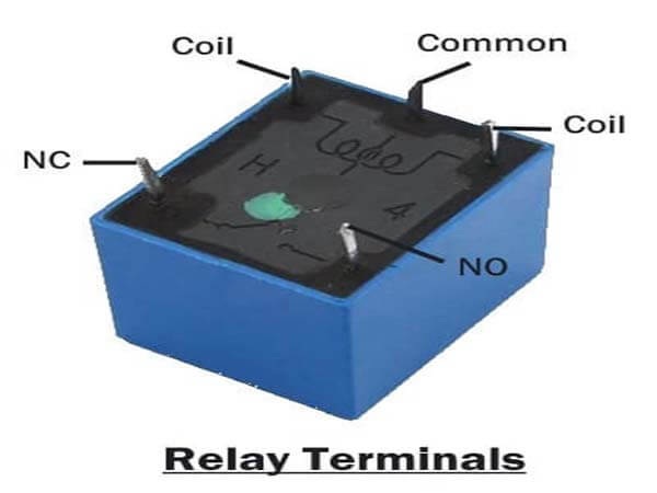 Connection of relay terminals