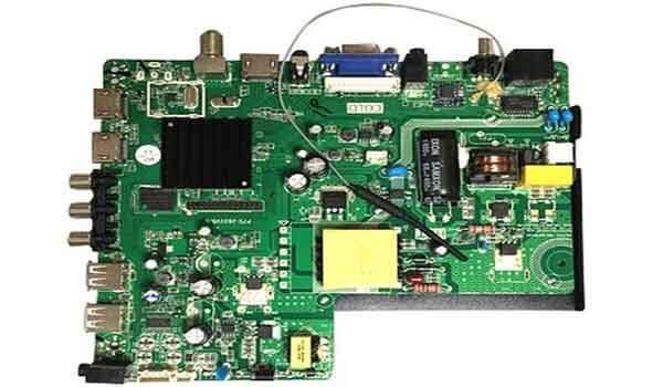 A smart LED TV motherboard PCB