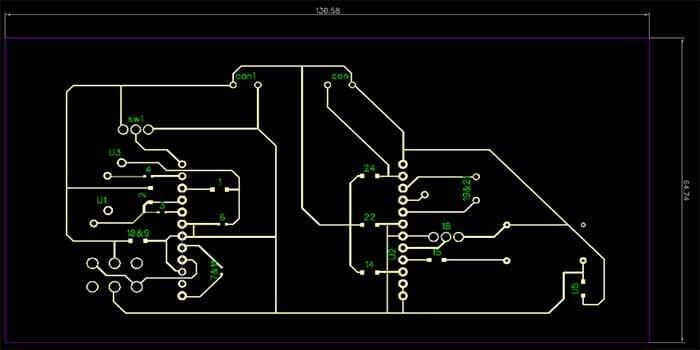 Design for Single Layer PCB