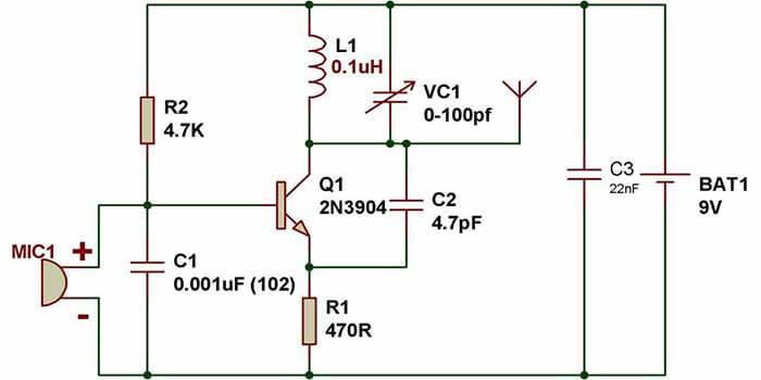 Simple FM Transmitter PCB Design