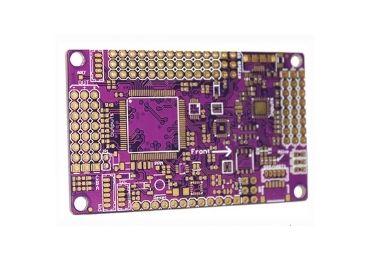 Gold Metal Coating Purple PCB