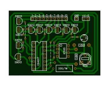 120 LED Chaser PCB