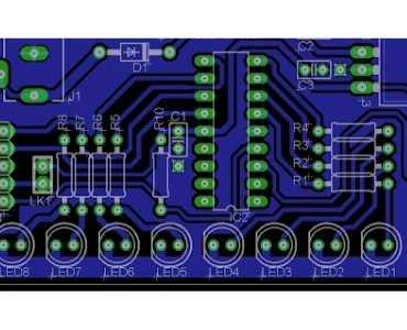 8 Channel LED Chaser PCB