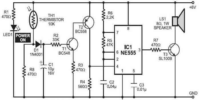 Schematic Of Fire Alarm PCB