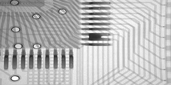 X-Ray Examination Finds PCB Flaw.