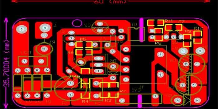 Electronic circuit board Protel PCB