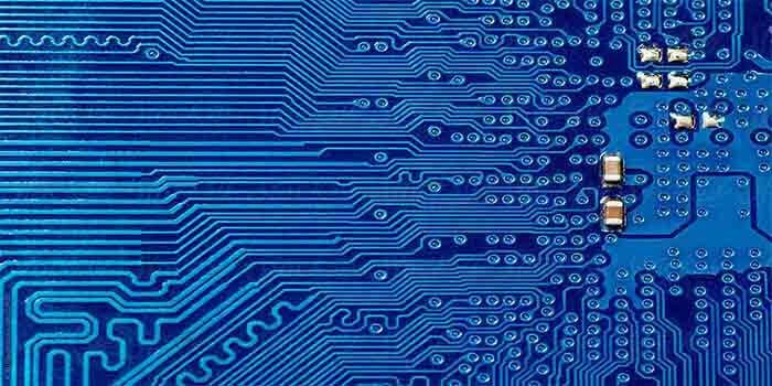 Blue Printed Board Circuit