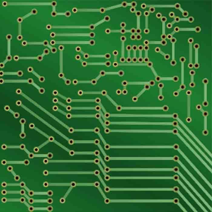 Green Printed Board Circuit