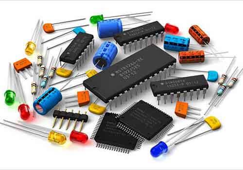 Orange PCB Components