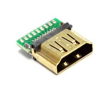 HDMI Female SMT + PCB Connector
