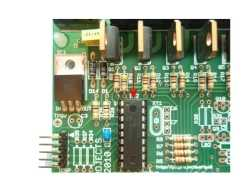 LED Chaser PCB for PIC16F628A