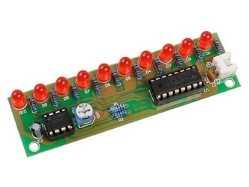 NE555 Based LED Light Chaser PCB