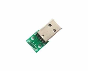 Vertical Mount Plug USB PCB